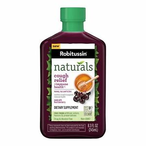Robitussin Naturals Cough Relief & Immune Health Syrup   8.3 Oz   1 Pack