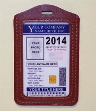 "Custom Company ID Badge ""2017"" >CUSTOM W/ YOUR PHOTO & INFO< Work - Employee ID"