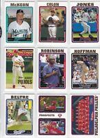 2005 Topps Baseball Series 1 & 2  Team Sets Near Mint Free Shipping $5.99 Each