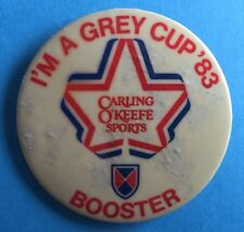 1983 Grey Cup Game CFL Football Hat Lapel Button Pin Vancouver BC Rare Vintage A