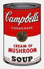 Campbell's Soup-Cream of Mushrooms (Sunday B. Morning), Silkscreen, Andy Warhol