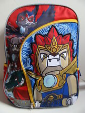 NWT LEGO CHIMA Backpack Book Bag Boys School Padded Pack Blue Lion Pockets NEW