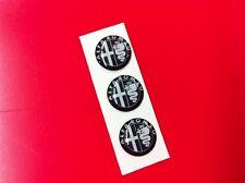 3 Adesivi Resinati Sticker 3D ALFA ROMEO 10 mm black