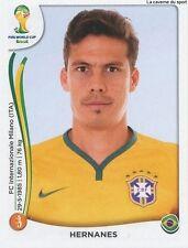 N°043 HERNANES # BRASIL STICKER PANINI WORLD CUP BRAZIL 2014