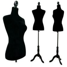 Black Female Mannequin Torso Dress Form Tripod Stand Display With Tripod Stand