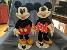 "Disney Applause Woodcraft Mickey & Minnie Mouse 18"" Limited Edition Figures RARE"