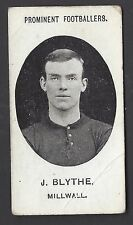TADDY - PROMINENT FOOTBALLERS (WITH FOOTNOTE) - J BLYTHE, MILLWALL