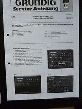 Original Service Manual Service Anleitung Grundig CBF 40/41