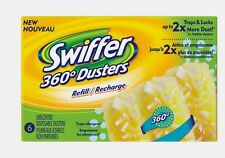 16944 New Swiffer 360 Fiber Duster Refill 6 Replacement Disposable Dust Cleaner
