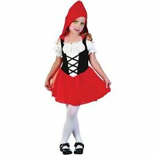 GIRLS TODDLER LITTLE RED RIDING HOOD FANCY DRESS COSTUME NURSERY 2 - 4 YEARS