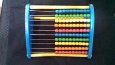 Vintage Playskool Colored Bead Educational Wood Abacus Toy