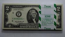 RARE STAR $2 2013*ATLANTA Dollar Bill UNC 100 CONSECUTIVE BDAY NOTE PAPER MONEY