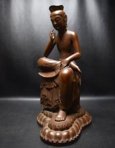 Maitreya Bodhisattva Miroku Bosatsu Bronze Statue by Sorin Matsuhisa
