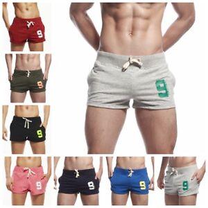 SEOBEAN Men's Cotton Sport Shorts Running Casual Home Pants Underwear GYM Shorts