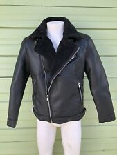 NWT ZARA BLACK FAUX LEATHER Double face biker jacket SIZE M  Ref: 3548 304 800