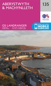 Aberystwyth & Machynlleth Landranger Map 135 Ordnance Survey Latest