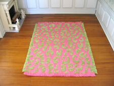 dollhouse doll house miniature WOVEN RUG CARPET ACCENT PINK FUN