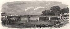 New bridge at Hampton Court. London, antique print, 1866
