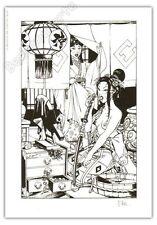 Ex-libris Sérigraphie Hub Okko Le rituel signé 21x29,7 cm