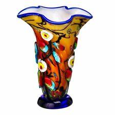 Massive Murano Art Glass Multi Coloured Flamboyant Flower Vase Magnificent 35cm