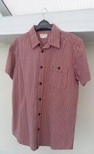 Red Cotton Short Sleeve Shirt Size Medium - Wrangler Motorcycle