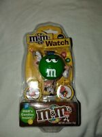 New M&M Watch w/Container for Candy - Green M&M