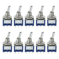 10pcs Mini 6mm Mts 202 Toggle Switch 2 Position 6 Pin Onon 6a125vac Switches
