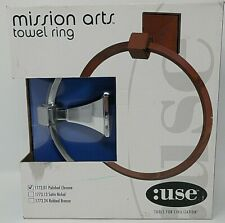 Use Bath Fixtures Modern Mission Arts Satin Nickel Hand Towel Ring 1773.13