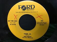 JACK BAILEY & the NATURALS Tiger Lil / Your Magic Touch 1962 Teen Rocker 45 m397