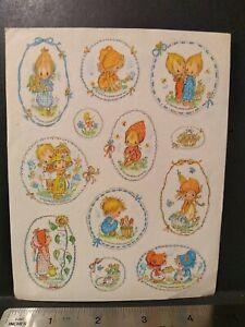 Vintage Hallmark Betsey Clark Sticker Sheet VTH HTF RARE 80s Bonnet Girl