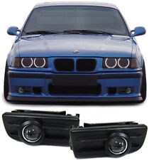 BLACK PROJECTOR FOG LIGHTS + FITTING BRACKETS BMW E36 3 SERIES CHRISTMAS GIFT