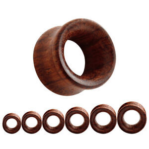 CHERRY WOOD Timber Ear Tunnels Piercing Stretchers Jewellery Plugs Wooden TU186