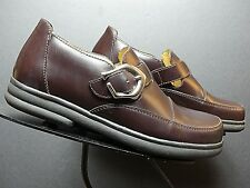 Footprints Birkenstock Germany Brown Leather Monk Strap Loafer Sz. 36/5.5 MINT!