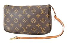 Authentic LOUIS VUITTON Accessory Pochette Monogram Clutch Bag #36591