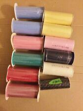"11 Spools 6"" Tulle 25 Yrds Each =275 Yds + Black w/ Gold Speckles=10 Yds"