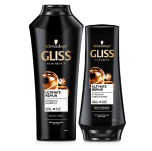 Schwarzkopf Gliss Ultimate Repair Shampoo and Conditioner Set Dry Damaged Hair