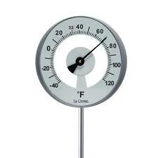 NEW La Crosse T83707 Large Dial Lollipop Outdoor Garden Thermometer - Aluminum