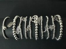 10 X Bracelets With Coin Bell Hamsa Hand Heart Buddha Wing Moon Butterfly Star