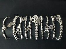 10 x boho bijoux Stretch beaded Bracelets with charms wholesale jewellery
