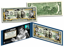 JAMES DEAN - Rebel Without a Cause  Legal Tender US Colorized $2 Bill -LICENSED