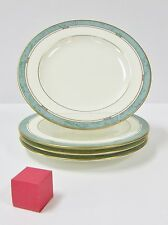 """PFALTZGRAFF PATINA PATTERN SET OF 4 BREAD AND BUTTER PLATES 6 5/8"""" CREAM GREEN"""