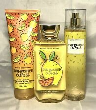 BATH & BODY WORKS Sun Washed Citrus BATH GEL SPRAY MIST BODY CREAM FULL SIZE x 3