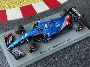 1/43 Alpine Renault A521 #14 Fernando Alonso GP Bahrain 2021 SPARK S7664 NEU OVP