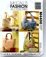 Sewing Pattern McCall's Laura Ashley Purses Hand Bags Accessories New Uncut