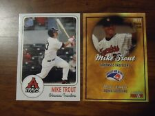 Mike Trout Arkansas Travelers 2 Card Lot Minor League Rookie Card + 2011 Gold