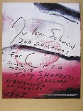 1995 Julian Schnabel 200 Paintings exhibition CRIA Benefit vintage print Ad