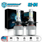 IRONWALLS H4 HB2 9003 LED Headlight Bulbs Kit High Low Beam 6000K Lamp 300000LM