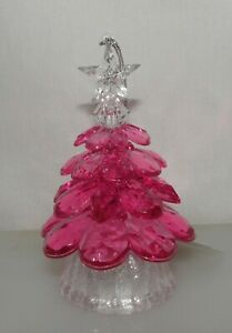 Bath & Body Works Light Up Pink Crystal Tree 3 Wick Candle Magnet