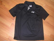 Under Armour Heatgear Boys' Golf Polo Shirt Size Youth Large Loose Fit Black