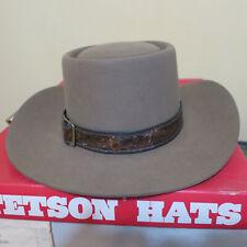 "Stetson 3X Beaver Cowboy Hat  6 7/8""  Brown Revenger New in Box"